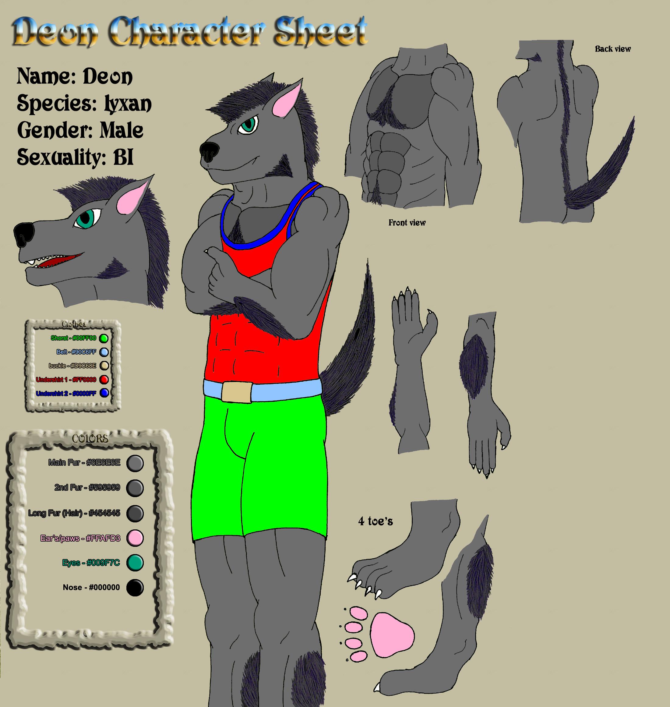 Character Sheet - Deon